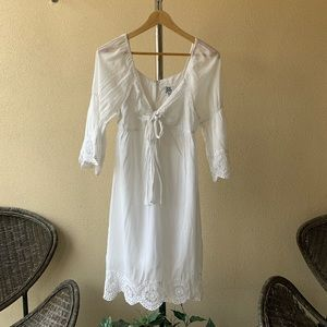 Uncle Frank Ivy Jane White Dress Sz S